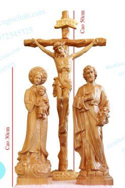 Tượng Chịu Nạn đức Mẹ Lavang Thánh Giuse 30cm