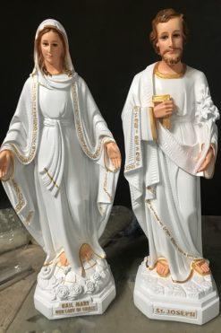 Tượng đức Mẹ Ban ơn Và Giuse 70cm (1)