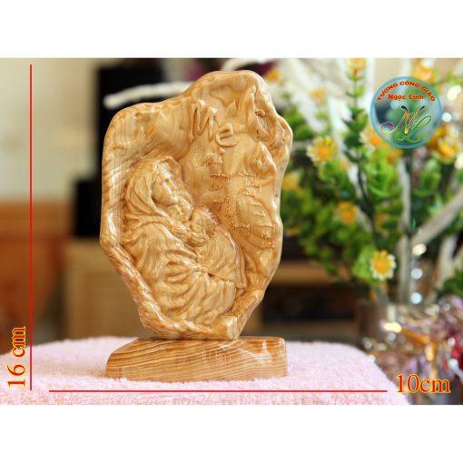 Tượng đức Mẹ Bế Chúa Cao 17cm
