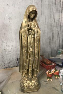 Tượng đức Mẹ Giả đồng Cao 70cm (2)