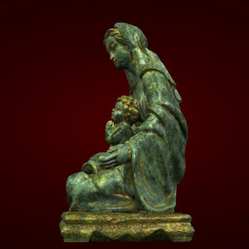 Tượng đức Mẹ Maria đá Nhân Tạo Composite 02