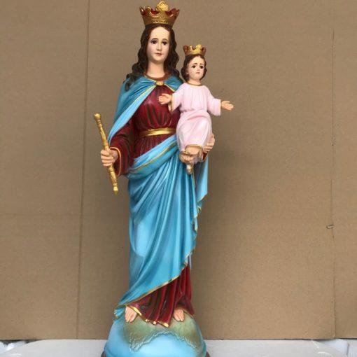 Tượng đức Mẹ Phù Hộ 70cm (1)