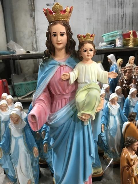 Tượng đức Mẹ Phù Hộ 70cm (5)