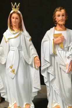 Tượng Mẹ Ban ơn Và Thánh Giuse 60cm