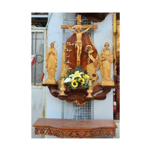 Bàn Thờ Công Giáo Gỗ Hương
