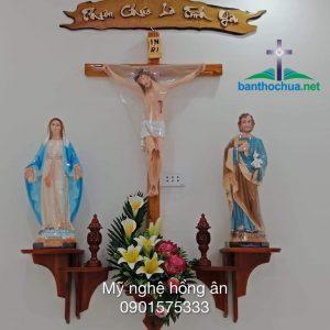 Bàn Thờ Gỗ Công Giáo Hiện đại HA03