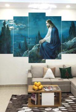 Bộ 5 Tấm Tranh Treo Tường Chúa Giêsu Trang Trí Nhà Cửa Hiện đại 02