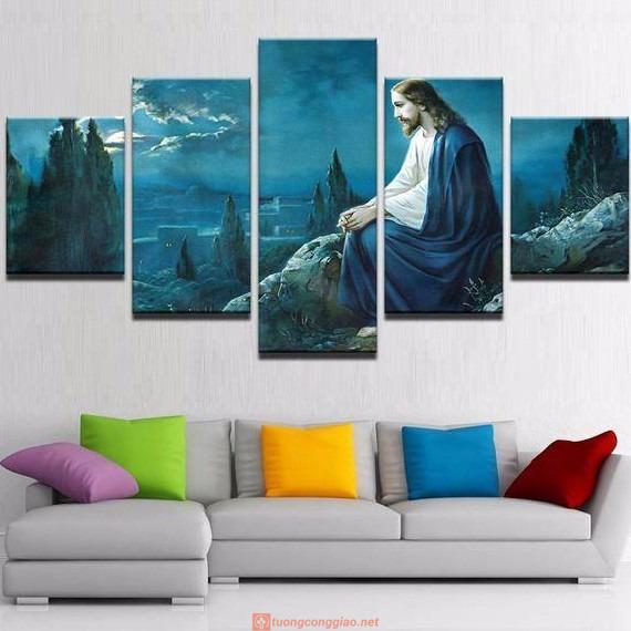 Bộ 5 Tấm Tranh Treo Tường Chúa Giêsu Trang Trí Nhà Cửa Hiện đại