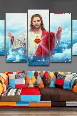 Bộ 5 Tấm Tranh Treo Tường Chúa Giêsu Trang Trí Phòng Hiện đại 05