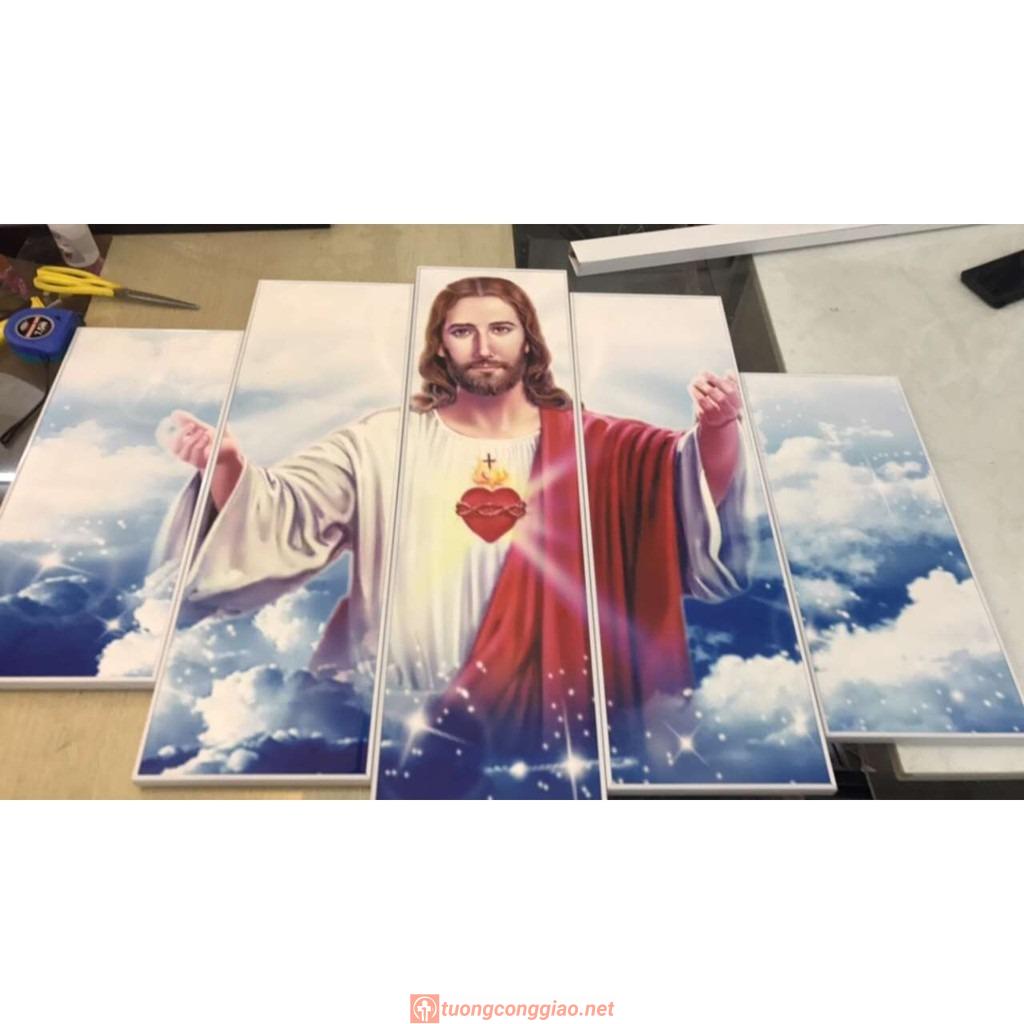 Bộ 5 Tấm Tranh Treo Tường Chúa Giêsu Trang Trí Phòng Hiện đại 06