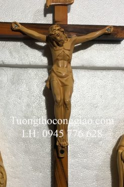 Bộ Tượng Bàn Thờ Chúa Giả Gỗ Cao 30cm 02