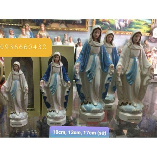 Đức Mẹ Ban Ơn Ceramic (sứ) Cao 13cm 05