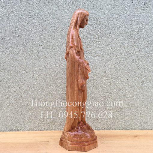 Đức Mẹ Ban ơn Bằng Gỗ 20cm 03