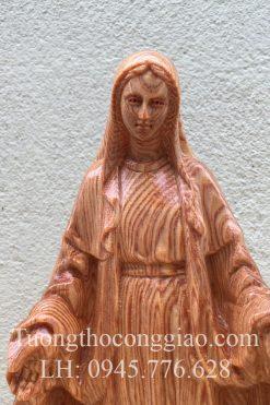 Đức Mẹ Ban ơn Bằng Gỗ 20cm 07