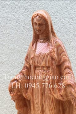 Đức Mẹ Ban ơn Bằng Gỗ 20cm 09