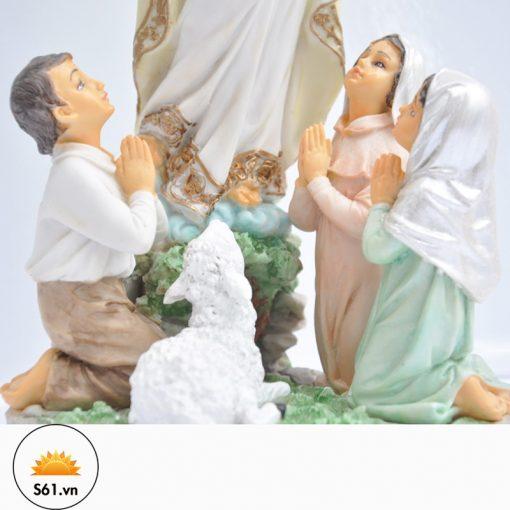 Đức Mẹ Fatima Mẫu Ý Bột đá Cao 30cm 02