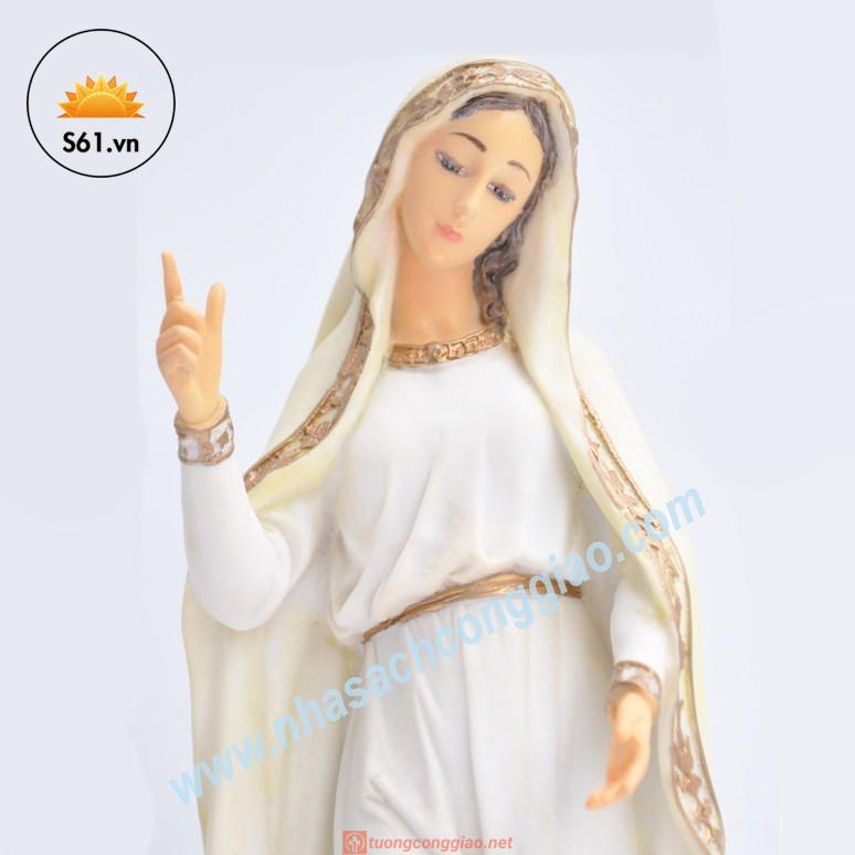 Đức Mẹ Fatima Mẫu Ý Bột đá Cao 30cm 03