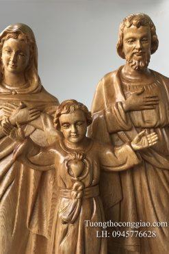Gia đình Thánh Gia Bằng Gỗ Cao 50cm 03