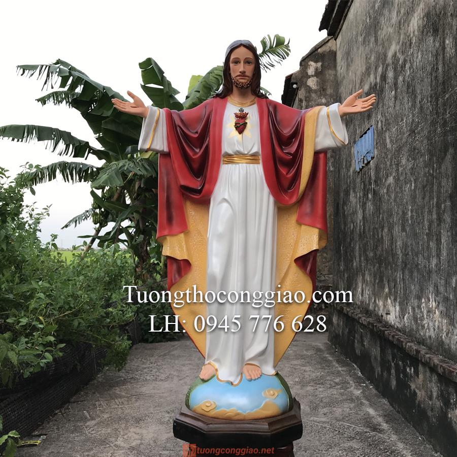 Tượng Chúa Kito Vua Cao 1m4 (3)