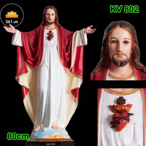 Tượng Chúa Kitô Vua Cao 80cm (1)