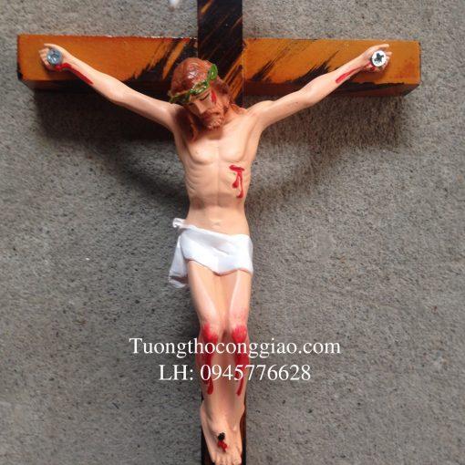 Tượng Chúa Chịu Nạn 17cm, Thánh Giá Cao 27cm 02