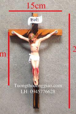 Tượng Chúa Chịu Nạn 17cm, Thánh Giá Cao 27cm 04