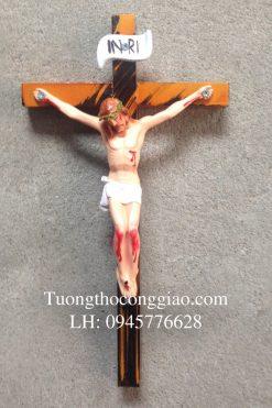 Tượng Chúa Chịu Nạn 17cm, Thánh Giá Cao 27cm