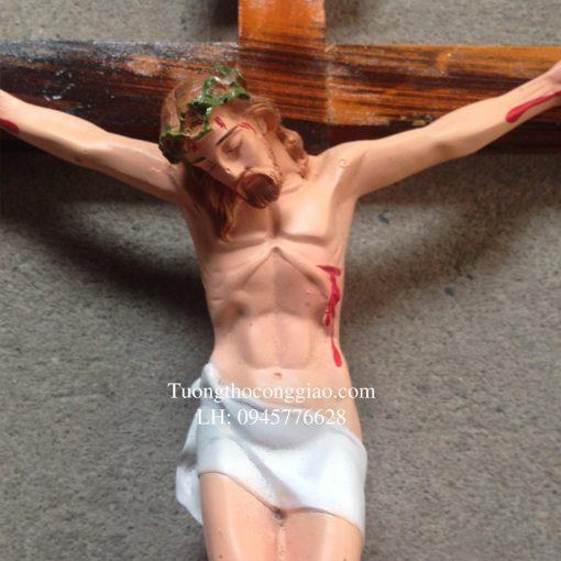Tượng Chúa Chịu Nạn 25cm, Thánh Giá 47cm 02