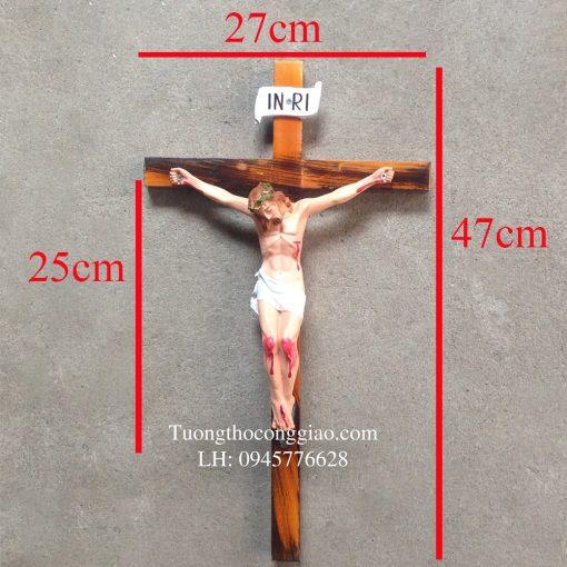 Tượng Chúa Chịu Nạn 25cm, Thánh Giá 47cm 04