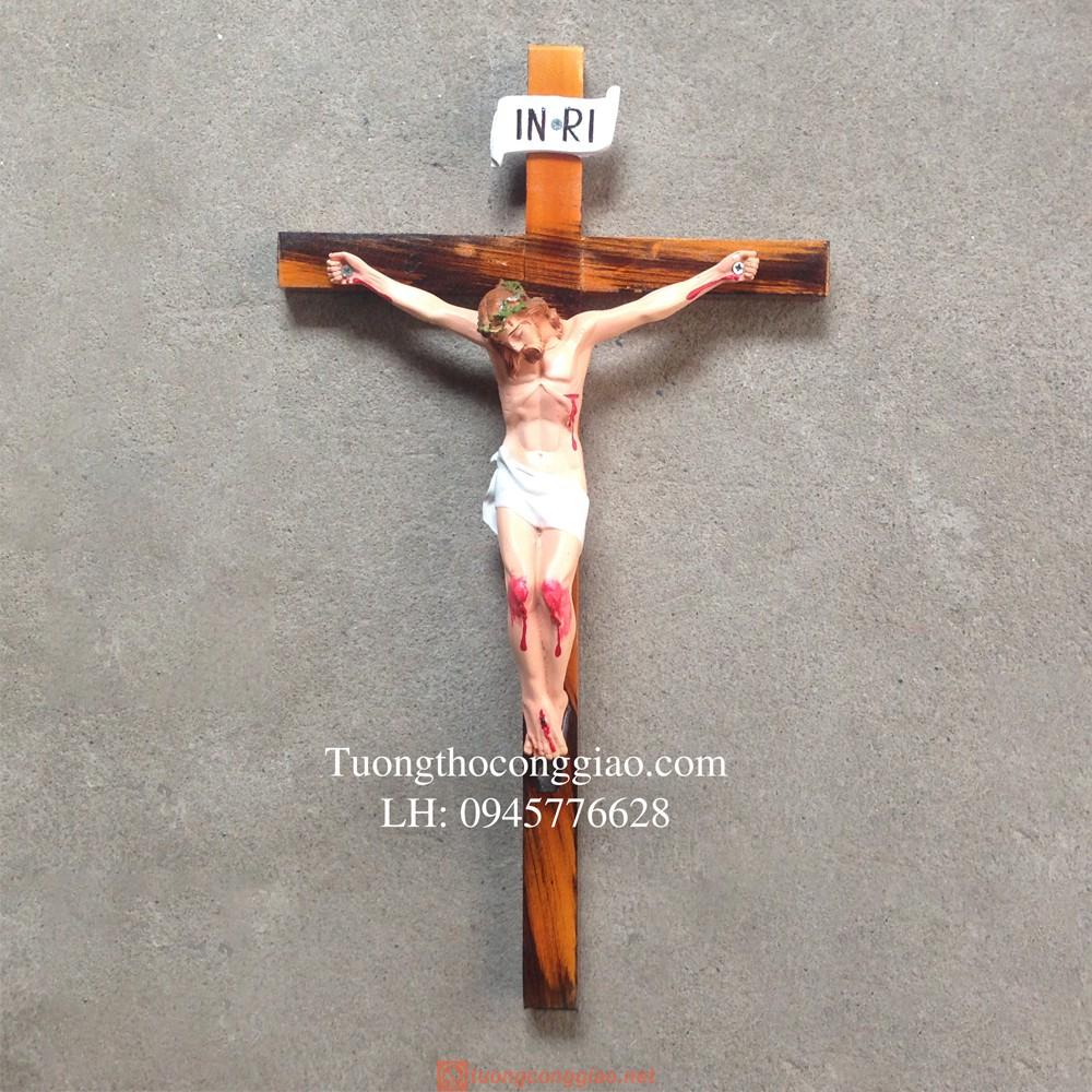 Tượng Chúa Chịu Nạn 25cm, Thánh Giá 47cm