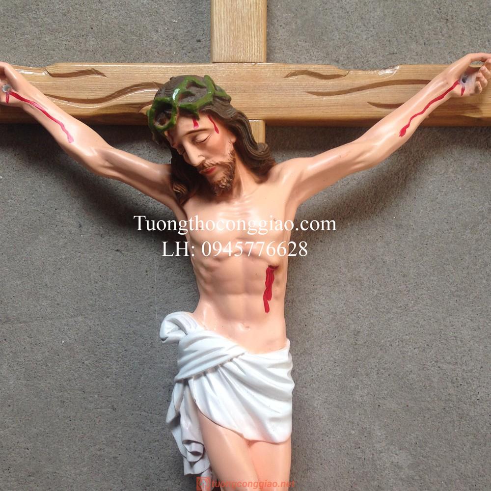 Tượng Chúa Chịu Nạn 50cm, Thánh Giá Cao 80cm 02