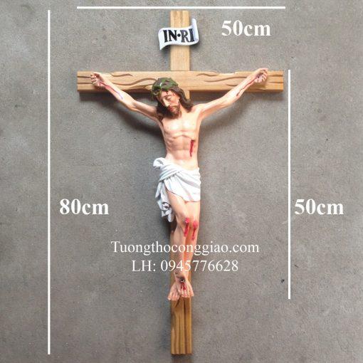 Tượng Chúa Chịu Nạn 50cm, Thánh Giá Cao 80cm 04