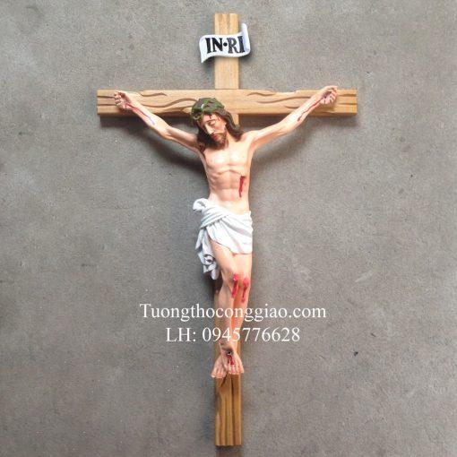 Tượng Chúa Chịu Nạn 50cm, Thánh Giá Cao 80cm