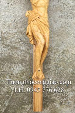 Tượng Chúa Chịu Nạn Bằng Gỗ Cao 50cm 06