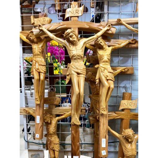 Tượng Chúa Chịu Nạn Bằng Gỗ Cao 70cm 02