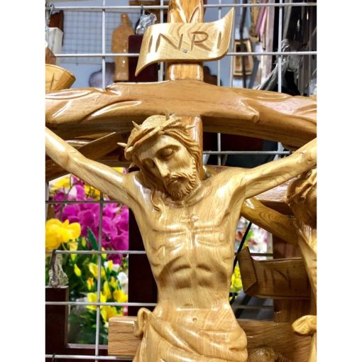 Tượng Chúa Chịu Nạn Bằng Gỗ Cao 70cm 03