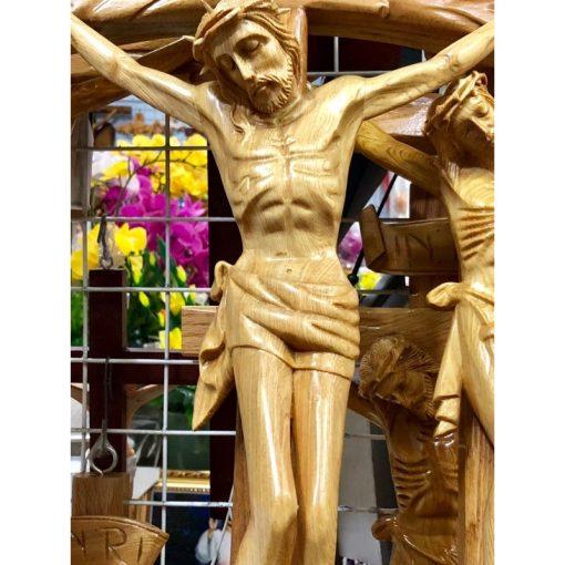 Tượng Chúa Chịu Nạn Bằng Gỗ Cao 70cm 04