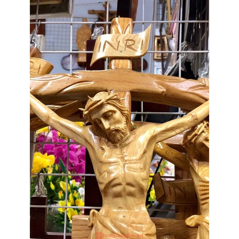 Tượng Chúa Chịu Nạn Bằng Gỗ Cao 70cm 05