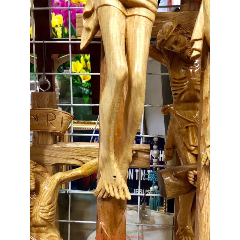 Tượng Chúa Chịu Nạn Bằng Gỗ Cao 70cm 06
