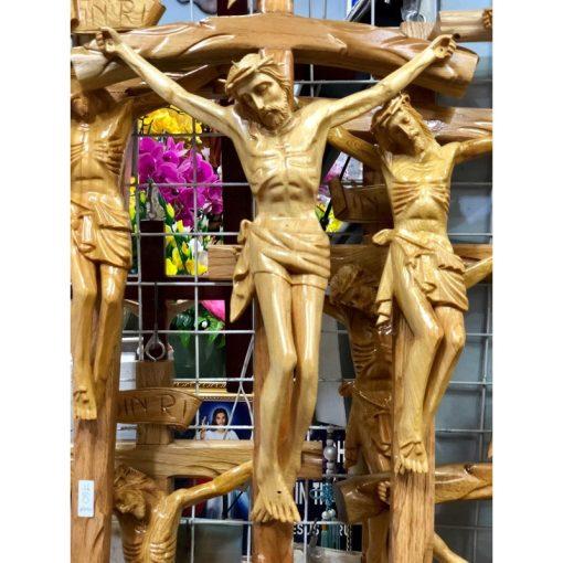 Tượng Chúa Chịu Nạn Bằng Gỗ Cao 70cm