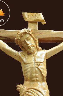 Tượng Chúa Chịu Nạn Cao 50cm Bằng Gỗ Pơ Mu 03