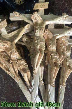 Tượng Chúa Chịu Nạn Cao 50cm Bằng Gỗ Pơ Mu 04