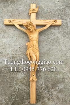 Tượng Chúa Chịu Nạn Cao 50cm Gỗ Pơ Mu (2)