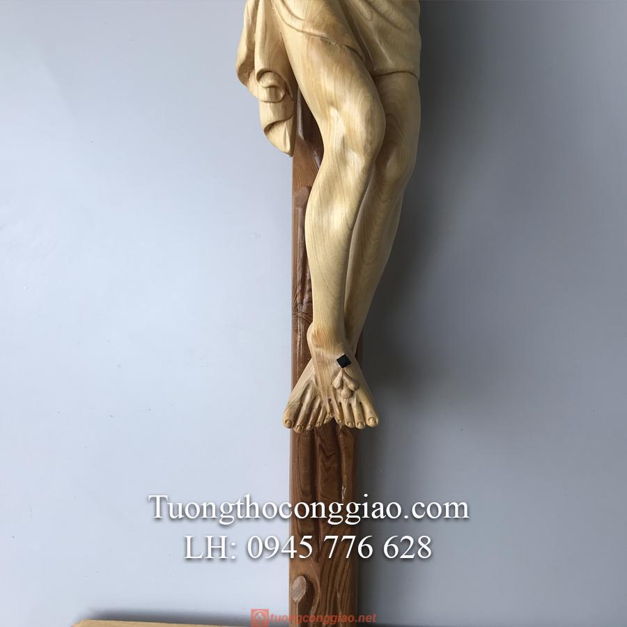 Tượng Chúa Chịu Nạn Cao 50cm Gỗ Pơ Mu (4)