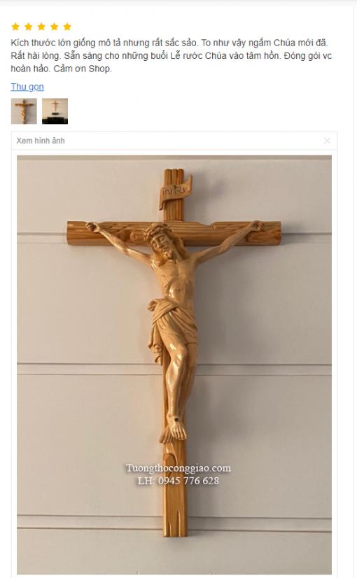 Tượng Chúa Chịu Nạn Cao 50cm Gỗ Pơ Mu (6)