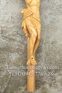 Tượng Chúa Chịu Nạn Cao 50cm Gỗ Pơ Mu (7)