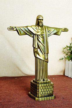 Tượng Chúa Kitô Vua Kim Loại Màu đồng 03