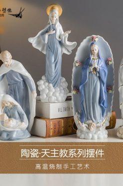 Tượng Công Giáo Bằng Gốm Trang Trí đẹp
