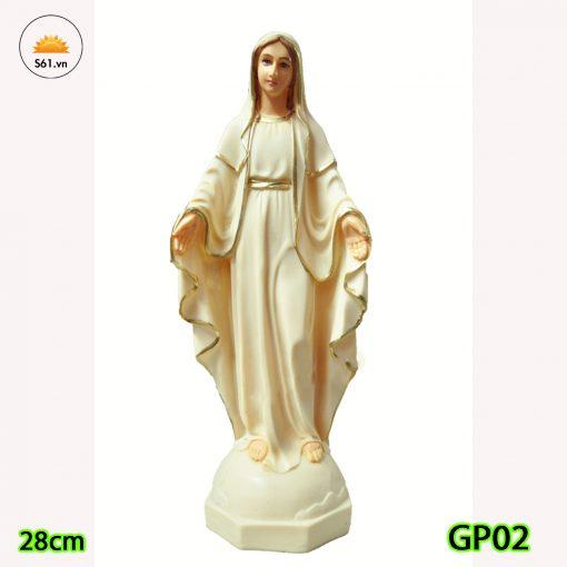Tượng Đức Mẹ Ban ơn 28cm Bột đá