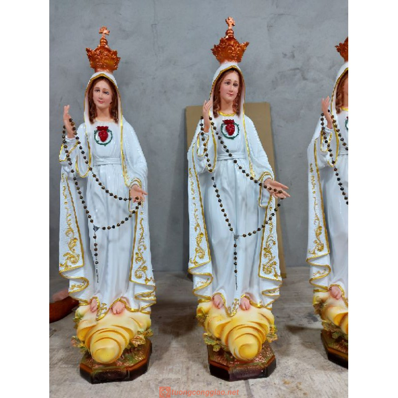 Tượng Đức Mẹ Fatima Cao 50cm Triều Thiên 05